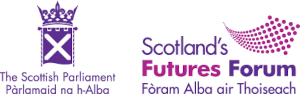 The logos of the Scottish Parliament and Scotland's Futures Forum