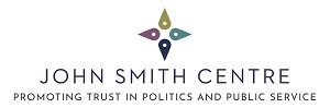 John Smith Centre logo, with the tagline: 'Promoting trust in politics and public service'